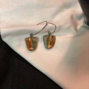 Obsidian Jewelry - EUC Artisan Silver Obsidian earrings